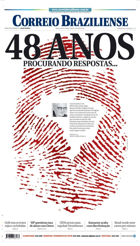 Award of Excellence, News Design/Page, A-Section (Correio Braziliense)